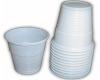 Copos de plástico brancos para café pequenos 100 Unid.